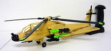 GI JOE DESERT APACHE AH-74 Vintage Figure Vehicle Helicopter COMPLETE 1992