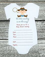 Western Cowboy Baby Shower Greeting Cards Invitations Ebay