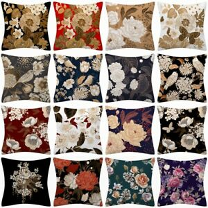 Throw PILLOW COVER Floral Double-Sided Decorative Flower Bed Cushion Case