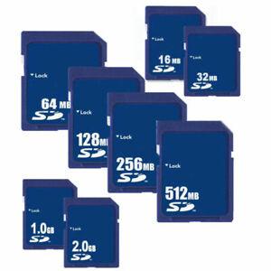 16MB 32MB 64MB 128MB 256MB 512MB 1GB 2GB SD Secure Digital Flash Speicherkarte