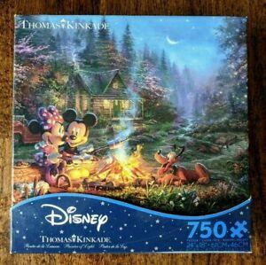 DISNEY Thomas Kinkade MICKEY & MINNIE Sweetheart Campfire 750 Piece Puzzle Ceac