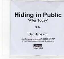 (FB916) Hiding In Public, After Today - DJ CD