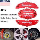 4PCS 3D Red Car Universal Disc Brake Caliper Covers Front & Rear Accessories Kit Alfa Romeo 147