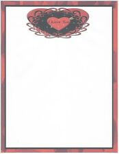I Love You Red Heart Stationery Printer Paper 26 Sheets