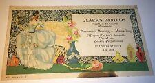 Antique American Advertising Clark's Parlors Beauty Preparations! Ink Blotter!
