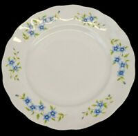 Vintage Embassy China Farolina Maria Blue Flowers Dinner Plate Poland