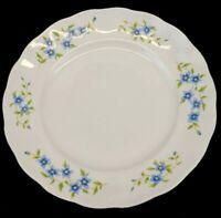 Vintage Embassy China Farolina Maria Blue Flowers Dinner Plate Poland