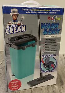 Clever Clean Wasch & Dry Wischsystem Bodenwischer mit Zweikammer-Aufsatz  R7/+
