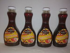4 PACK Joseph's Sugar-Free Maple Syrup  Great for Breakfast or desserts 12 fl oz