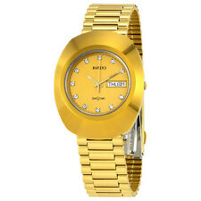 Rado Diastar All Gold Tone Stainless Steel Mens Watch R12393633