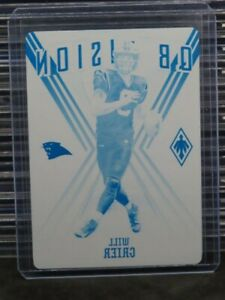 2020 Plates & Patches Will Grier Cyan Printing Plate #1/1 Panthers Y159