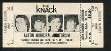 1979 The Knack Unused Full Concert ticket Austin TX Get The Knack My Sharona