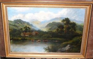 19th/C  Welsh River Landscape (by William Langley)
