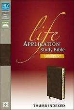 Life Application Study Bible-NIV-Large Print by Zondervan (Leather / fine binding, 2012)