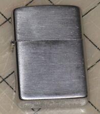 1937-1950 Patent 203695 Chrome Brush Finish ZIPPO LIGHTER - Good Condition