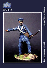 LA FORTEZZA SCALE MODEL STO-0543 - INFANTRYMAN 1847 - 54mm METAL