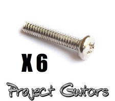 6 x Chrome Strat Pickup Height Adjusting Screws Fits Fender Strat Pickup