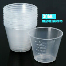 50x 30ml Measuring Cups Plastic Disposable Liquid Container Home Kitchen Tool