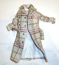 Barbie Fashion Designer Coach Trench Coat For Model Muse Dolls fn511
