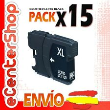 15 Cartuchos de Tinta Negra LC980 NON-OEM Brother MFC-290C / MFC290C