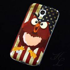 Samsung Galaxy S4 mini i9195 Silikon Case Schutz Hülle Cover USA Flagge Eule Owl