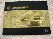 LAND ROVER OFFICIAL LONGITUDE EXPEDITION PRESS KIT BROCHURE 2004 USA EDITION