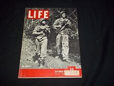 1943 SEPTEMBER 6 LIFE MAGAZINE - JAP HUNTERS - BEAUTIFUL FRONT COVER - GG 634