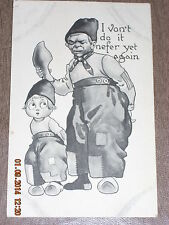 Vintage postcard S112 I von't do it nefer yet again 11/4/ 1912 Made in USA