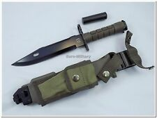 USMC Army Legendary M9 Knife - US Army M9 Knife w/ Plastic Sheath - Repro
