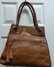 BCBGirls brown Leather tassle shoul
