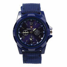 MENS SWISS MILITARY STYLE INFANTRY QUARTZ WATCH IN BLUE USA SELLER!