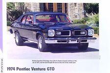 1974 Pontiac Ventura GTO 350 ci info/specs/photo/price/production numbers 11x8