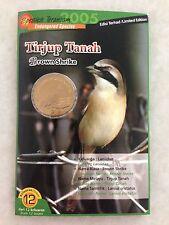 (JC) Malaysia Bird Coin Card no 12 - Tirjup Tanah 2005
