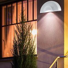 LED Design Außen Wand Leuchte Fassaden Strahler Veranda Stahl Spot Lampe weiß