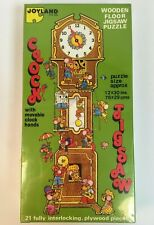 Joyland Clock Wooden Floor Jigsaw Puzzle Pieces Movable Clock Hands New Sealed