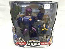 Rare Marvel Super Hero Squad Sentinel & Wolverine Mega Pack New