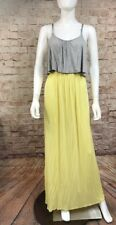 12PM By Mon Ami Maxi Dress Yellow Gray Medium Casual Comfortable