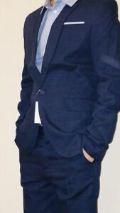 Anzug*Hose*Sakko*Hemd*H&M*marineblau*Festlich*Gr. 164/170*Junge*Konfirmation