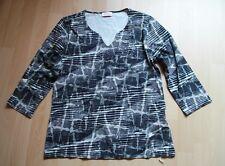 3/4 Arm-Shirt v.San Setto,Stretch,Gr.38,schwarz/creme,Strass-Steine,Grafik-Druck
