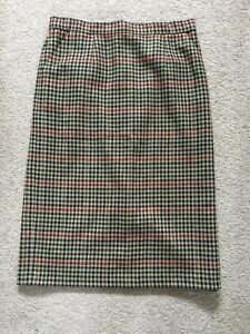 Rally Klad Skirt Scotland Plaid Wool Size 16