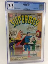Superboy #105 1963 CGC 7.5 Off-White Pgs 1st appearance Swifty!