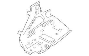 Genuine GM Battery Tray 92458432
