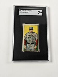 1909-11 Tolstoi Cigarettes T206 Peter O'Brien Baseball Card SGC