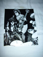 KISS ERIC CARR AND GENE SIMMONS BLACK AND WHITE INTIMATE SHOT 8X10 PHOTO