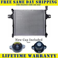 Radiator With Cap For Jeep Fits Commander Grand Cherokee 3.7 4.7 V6 V8 8 2839WC