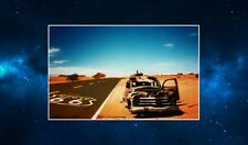 Route 66 Abandoned Car Fridge Magnet. NEW. Stunning Photography