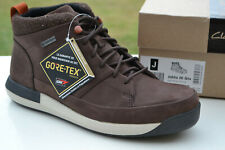 Clarks BNIB Mens Walking Hiking Boots JOHTO HI GTX Dark Brown Nubuck UK 8.5