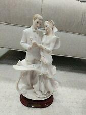 "Giuseppe Armani Bride Groom Figurine Wedding Statue Italy "" Porcelain"