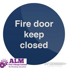 Fire Door Keep Closed Sign 100 x 100mm Self-Adhesive Warning Safety Sticker