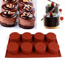8-Cavity Silicone Cupcake Mold Muffin Chocolate Cake Cookies Baking Mould Pan